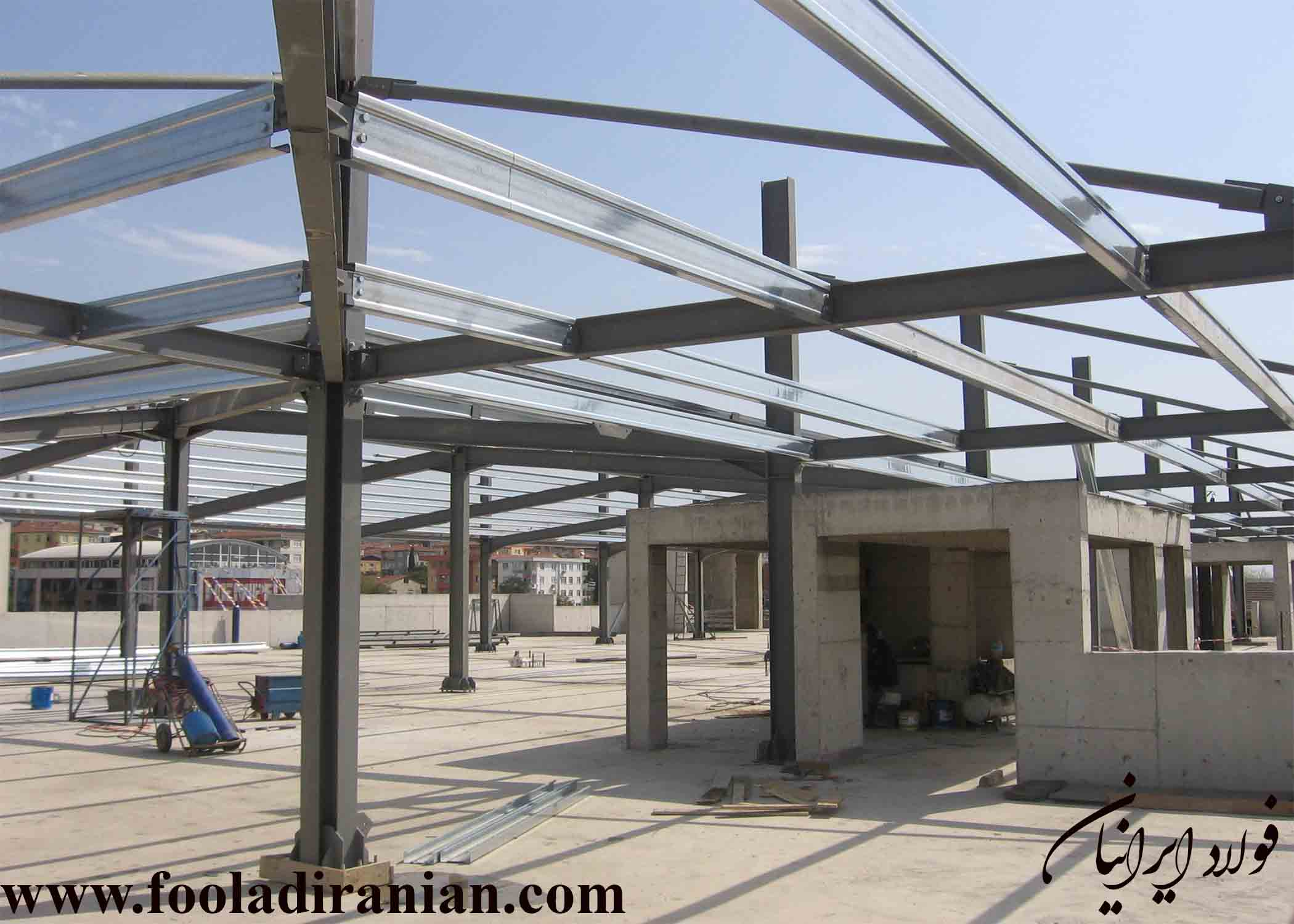 کاربرد فولاد در ساختمان سازی